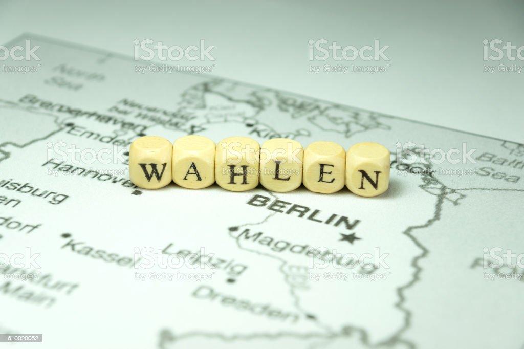 Wahlen in Deutschland stock photo