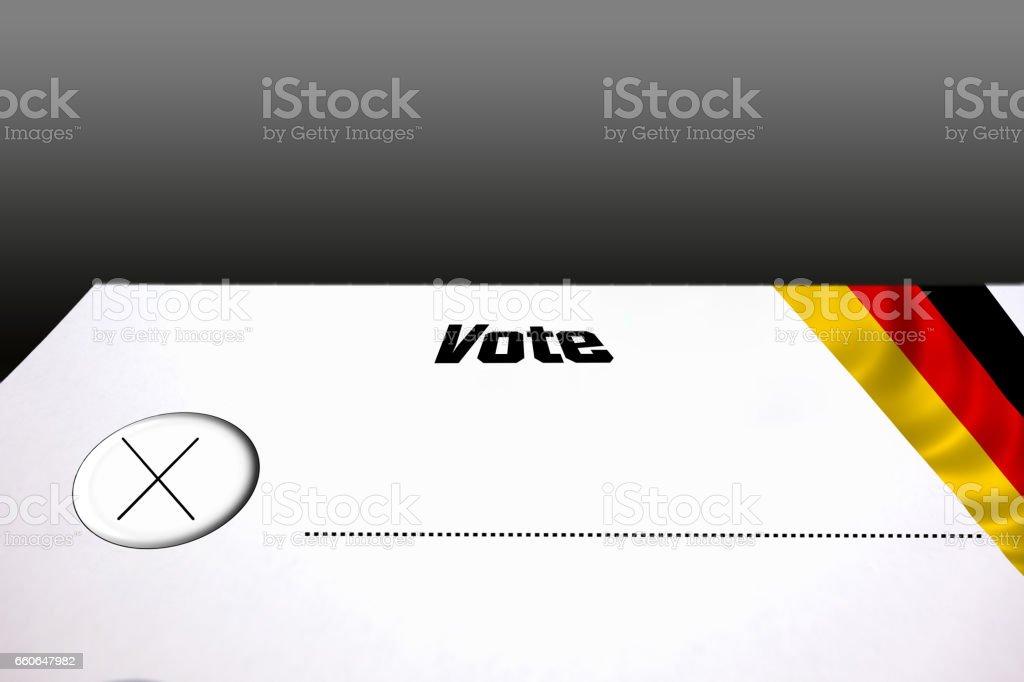 Wahlzettel zur Parteiwahl stock photo