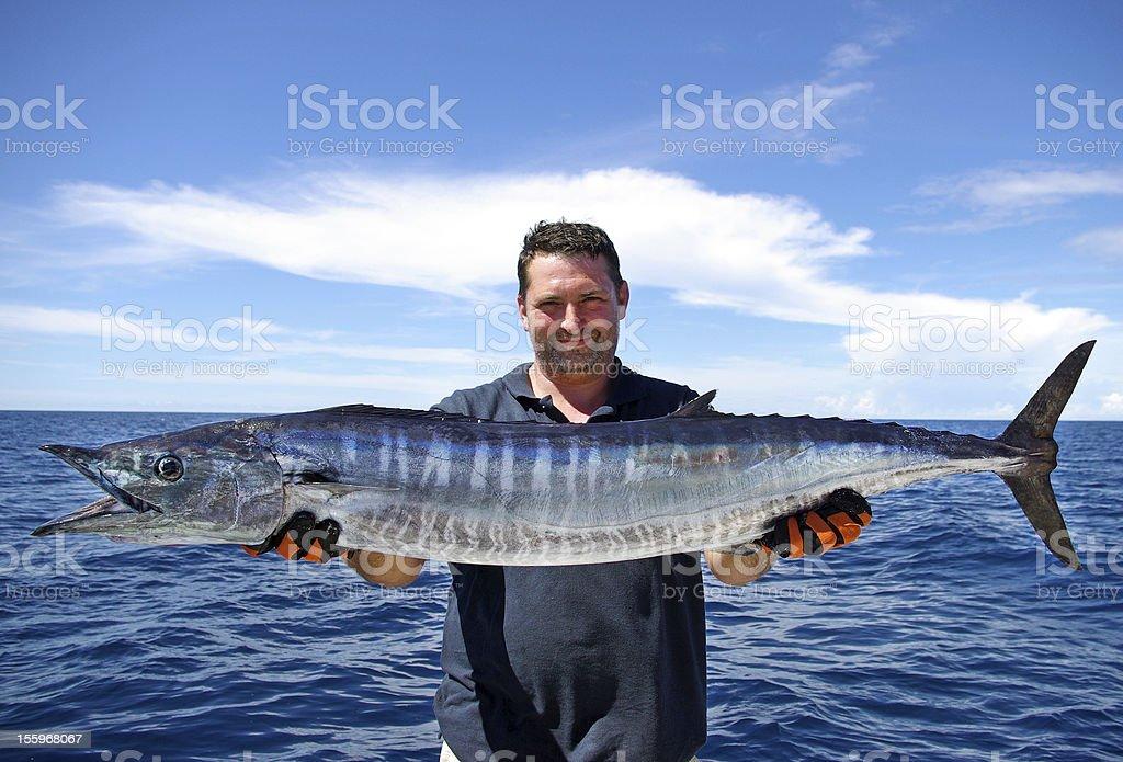 Wahoo - Scombrid fish family royalty-free stock photo