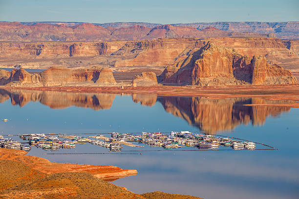 Wahweap Marina Lake Powell, Page, Arizona stock photo