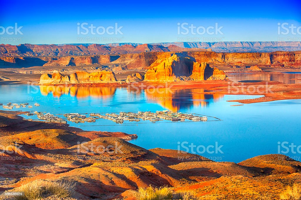 Wahweap Marina Lake Powell stock photo