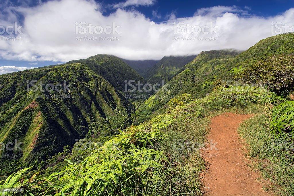 Waihee Ridge Trail, West Maui Mountains, Hawaii stock photo