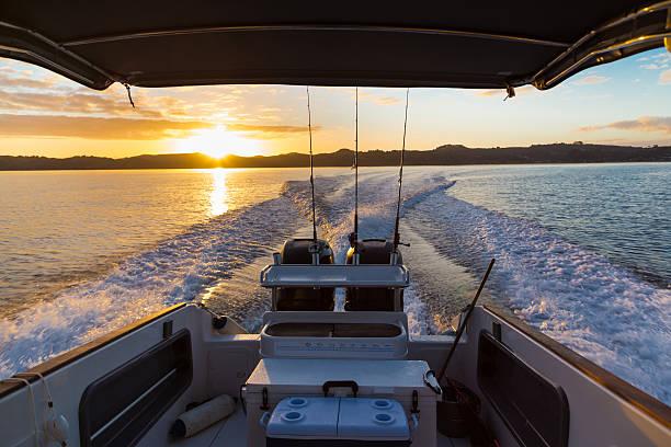 Waiheke sunrise stock photo