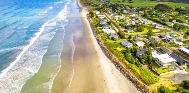 Waihi Beach auf der Halbinsel Coromandal in Neuseeland – Foto