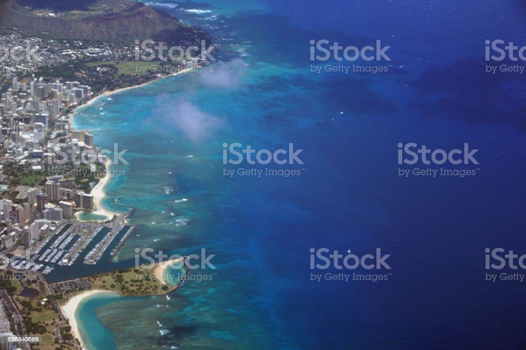 Waikiki, Ala Moana Beach Park, Kapiolani Park Harbor stock photo