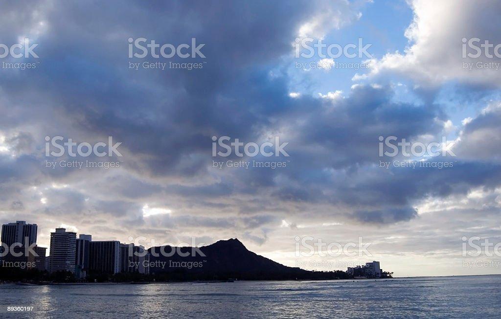 Waikiki al primo semaforo foto stock royalty-free