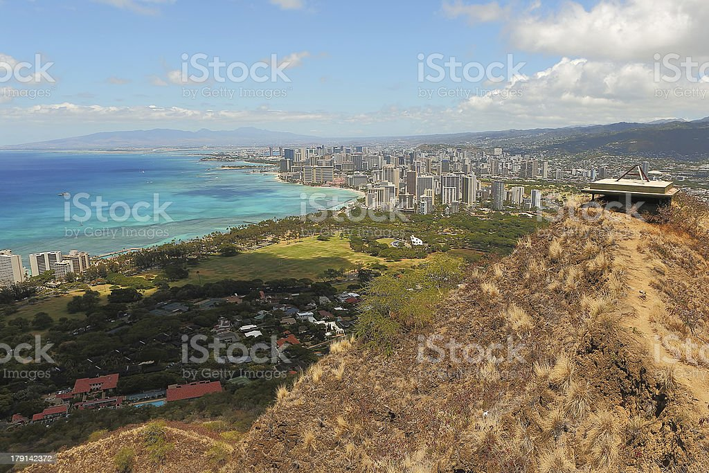 Waikiki Beach And Honolulu Hawaii Stock Photo - Download