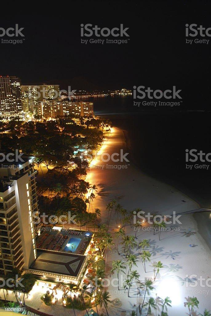 Waikiki Beach and Hotels, Hawaii royalty-free stock photo