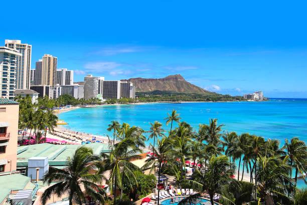 Waikiki Beach Honolulu Hawaii Skyline – Foto