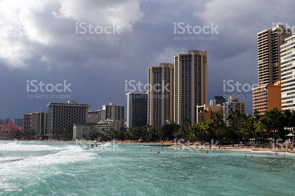 Waikiki Beach Honolulu Oahu Hawaii Stock Photo - Download