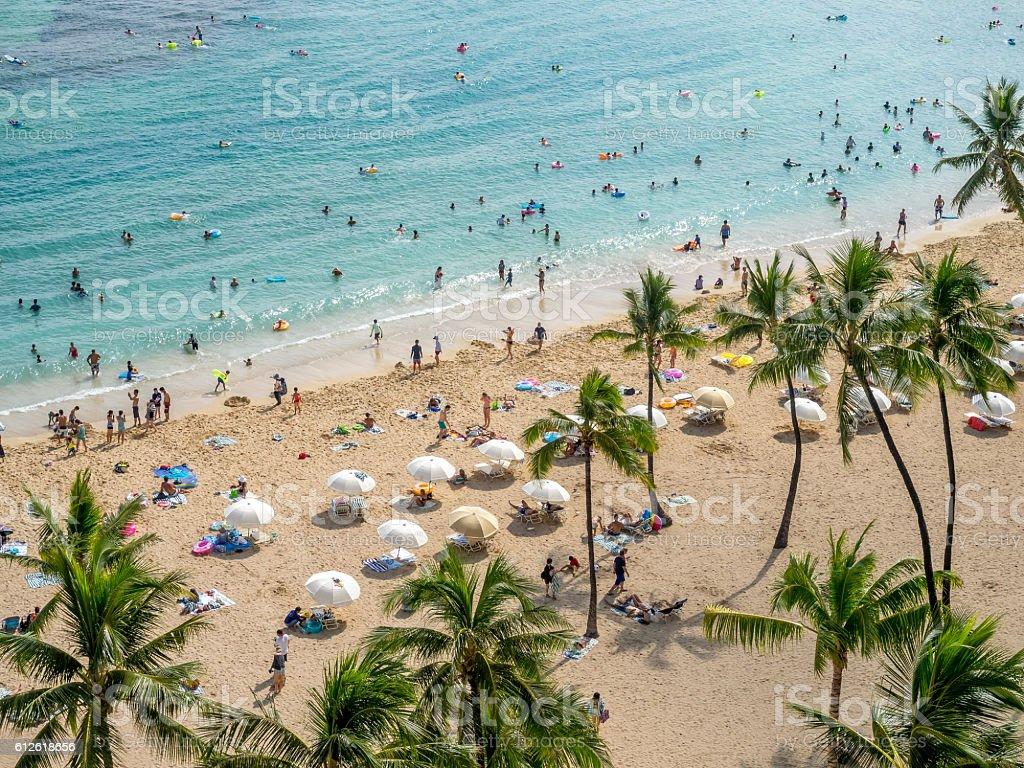 Waikiki beach, Honolulu stock photo