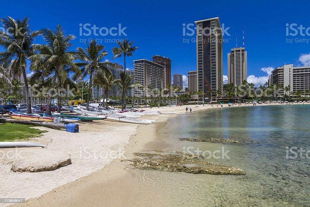 Waikiki Beach Hotels Condominiums Honolulu Hawaii Stock
