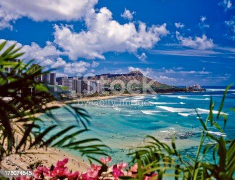 waikiki beach and diamond head in hawaii