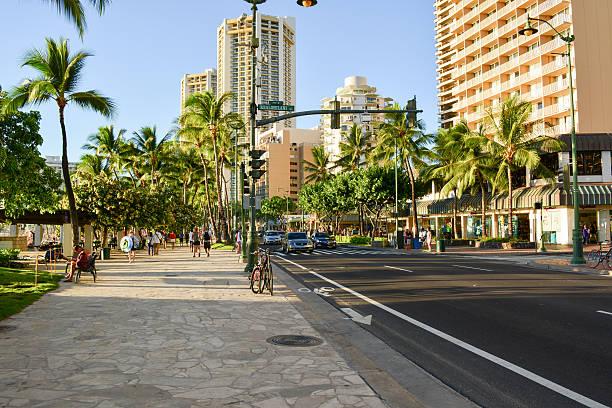 Waikiki Beach bei Sonnenuntergang – Foto