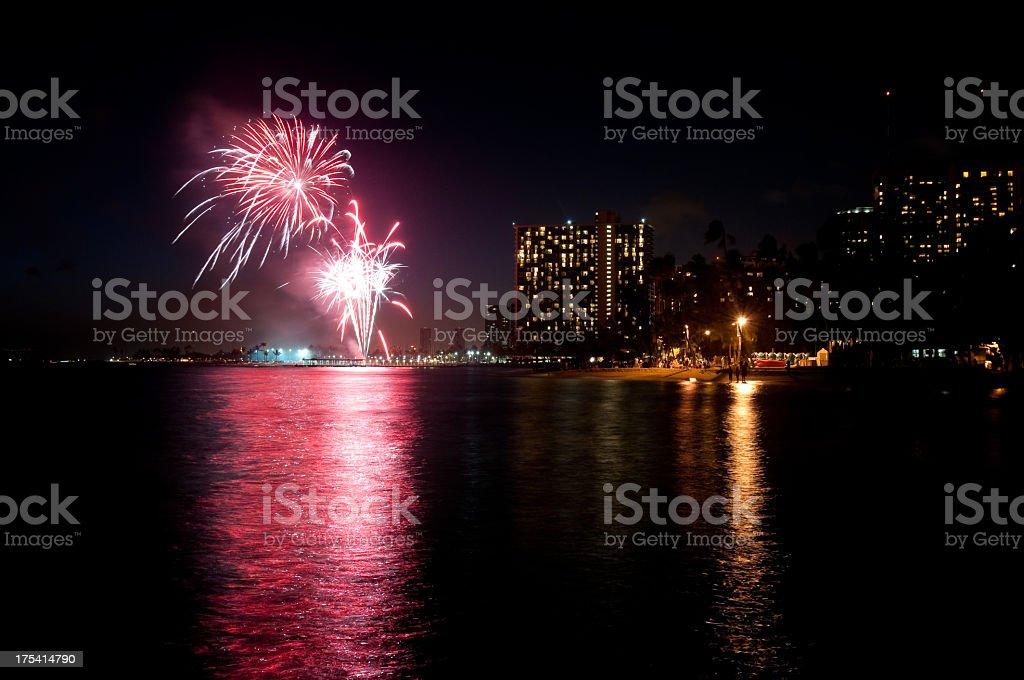 Waikiki Fireworks Stock Photo Download Image Now Istock
