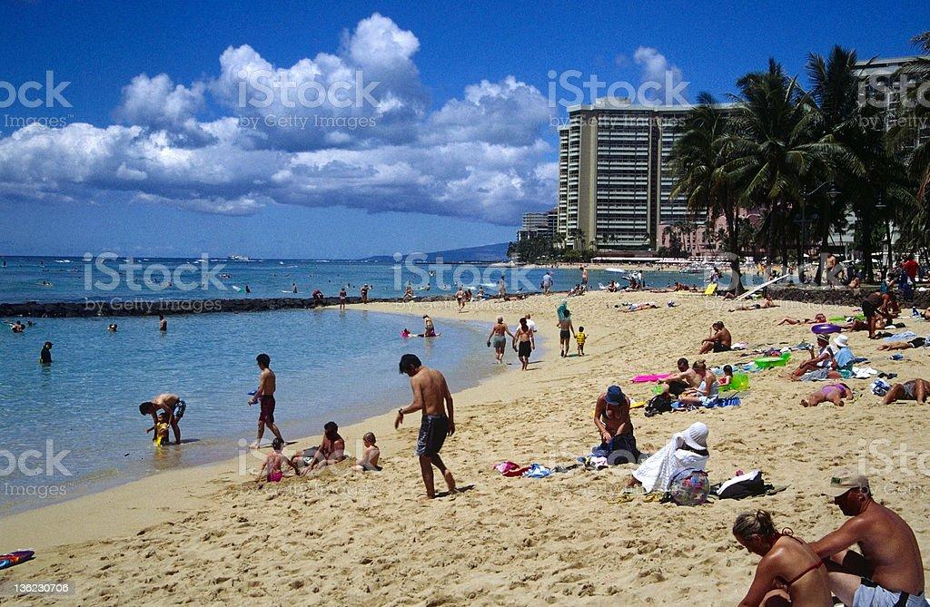 Waikiki royalty-free stock photo