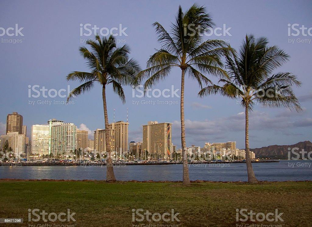 Waikiki Twilight royalty-free stock photo