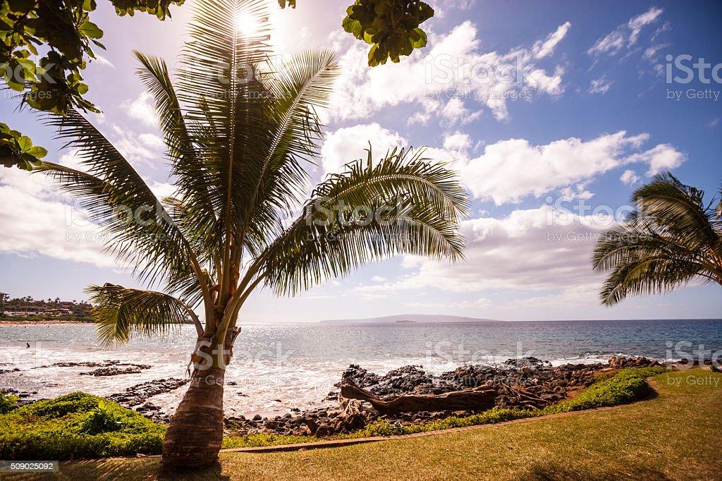 Wailea beach, Hawaii, USA stock photo