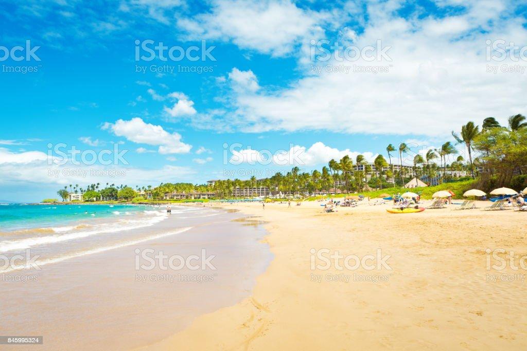 Wailea Beach of Maui, Hawaii stock photo