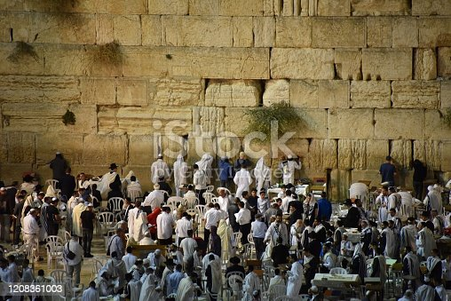 The Wailing Wall in Jerusalem, also known as the Wailing Wall and in Hebrew Kotel
