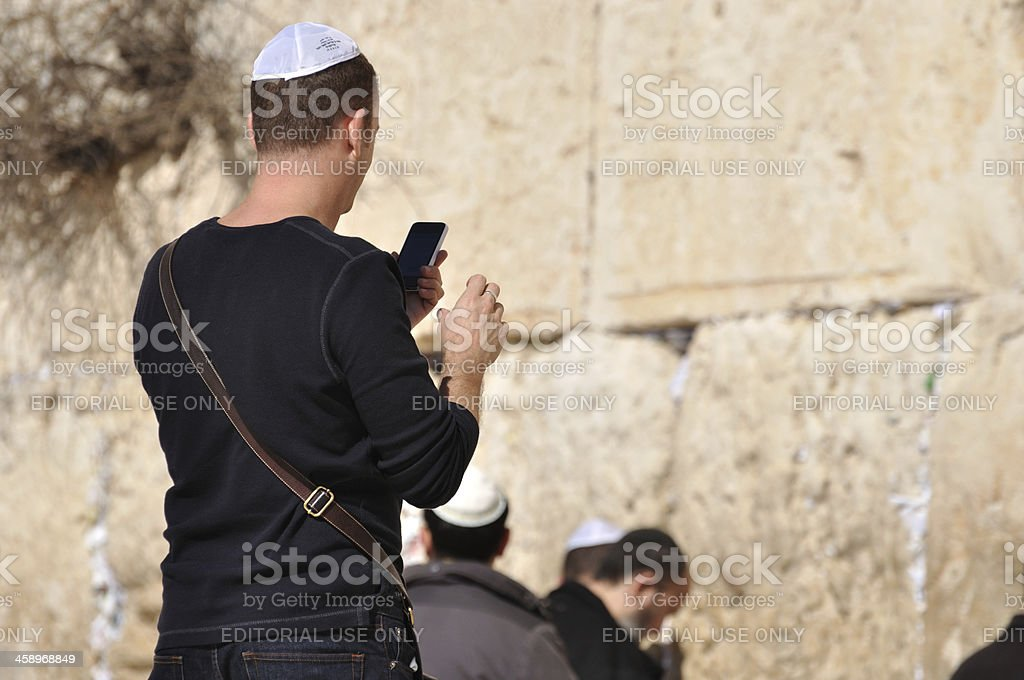 Wailing Wall stock photo
