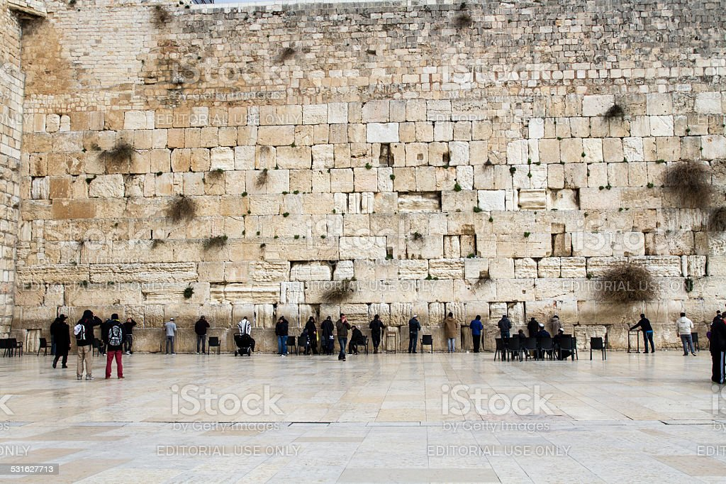 Wailing Wall . stock photo