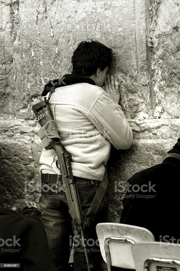 Wailing Wall royalty-free stock photo