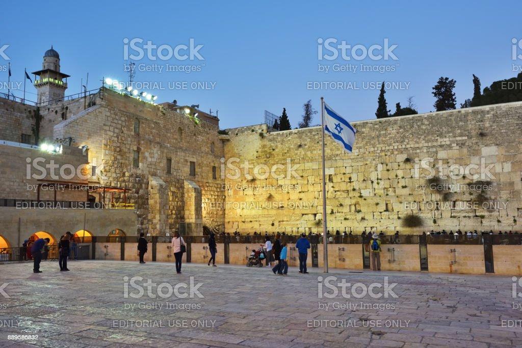 Wailing Wall, Western Wall or Kotel, Old City of Jerusalem, Israel stock photo