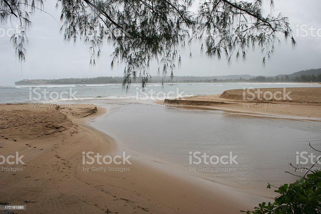Wailua Bay stock photo
