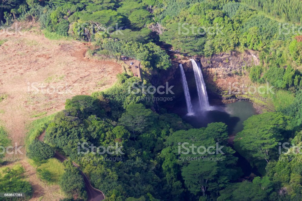 Wailua Falls, Kauai stock photo