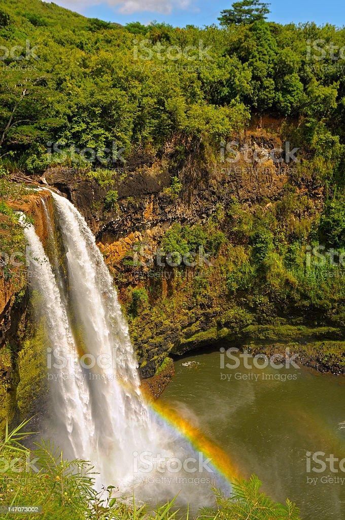 Wailua Falls royalty-free stock photo