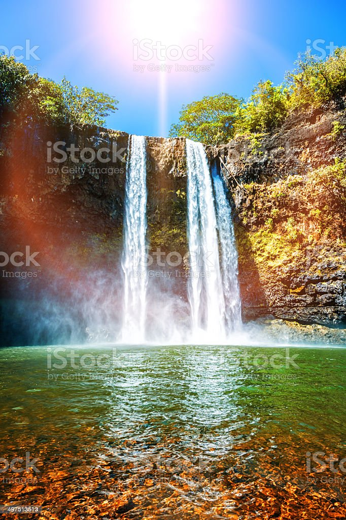 Wailua Falls stock photo