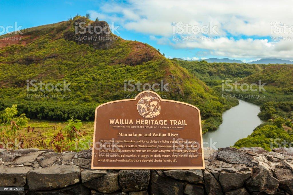 Wailua Heritage Trail - Kauai stock photo
