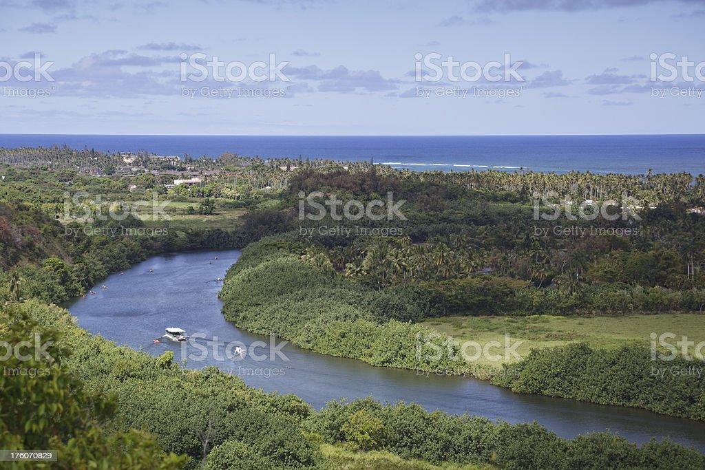 Wailua River, Kauai, Hawaii stock photo