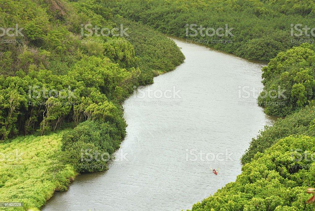 Wailua River stock photo