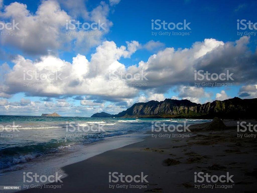 Waimanalo Beach royaltyfri bildbanksbilder