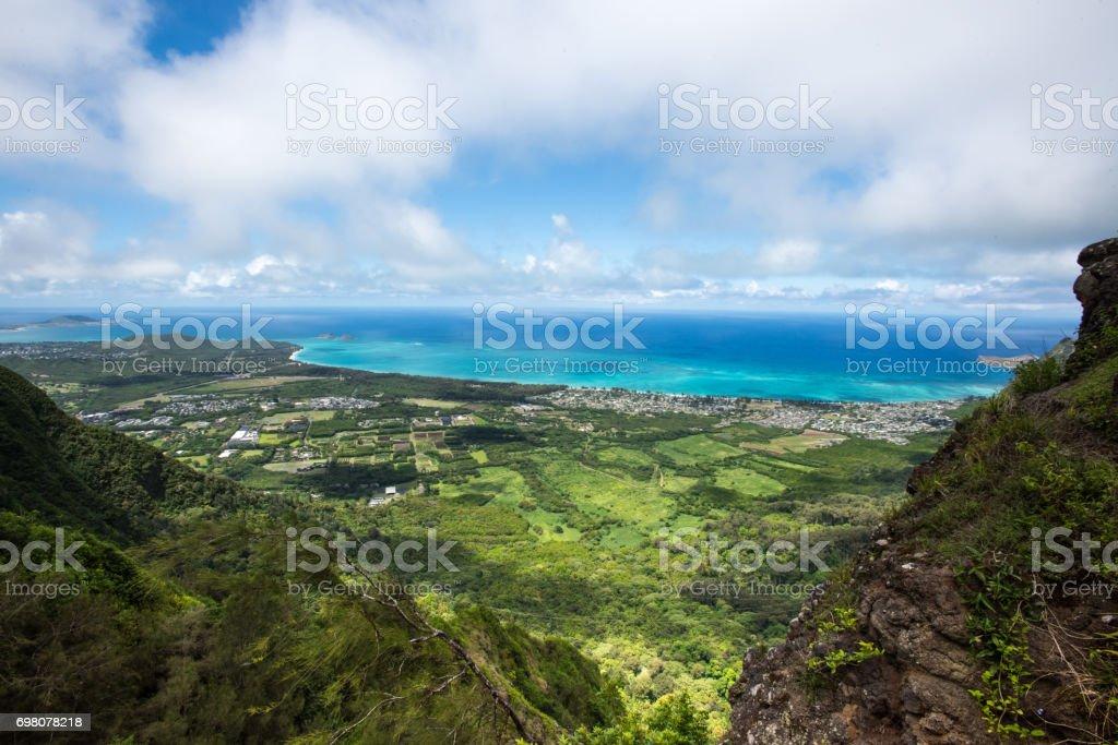 Waimanalo Valley, Oahu, Hawaii stock photo