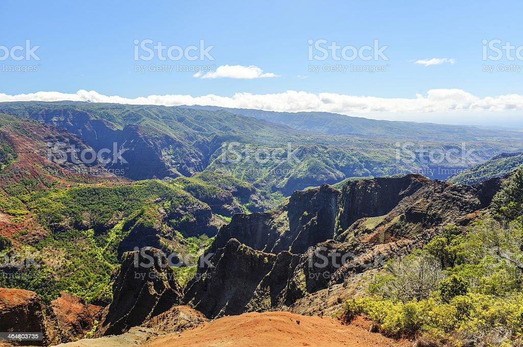 Waimea Canyon in Kauai, Hawaii Islands stock photo