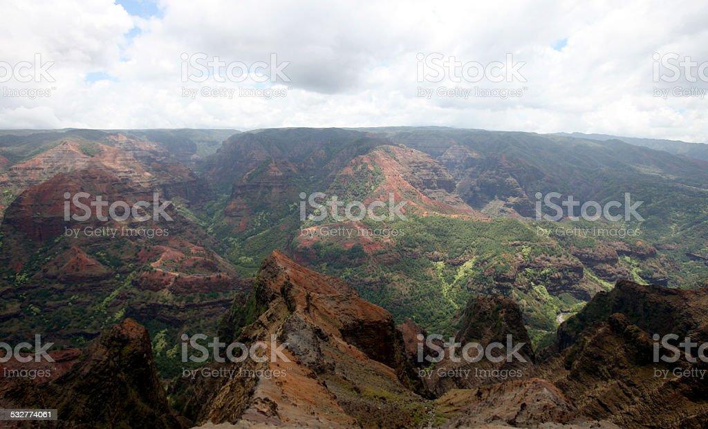 Waimea Canyon, Kauai, Hawaii stock photo