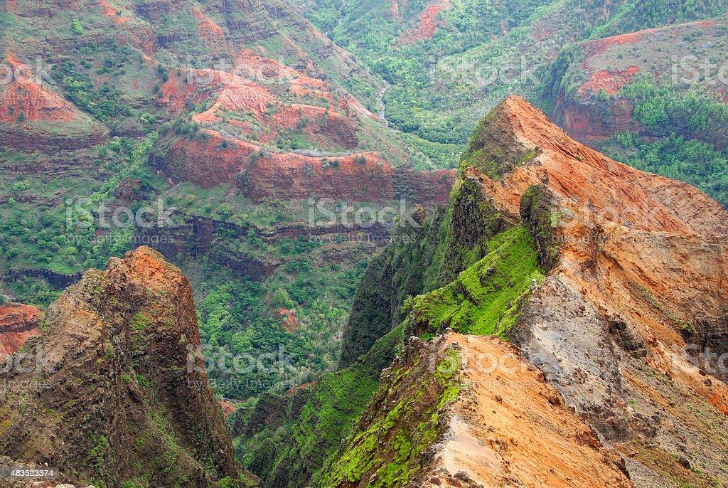 Waimea Canyon, Kauai, Hawaii, USA stock photo