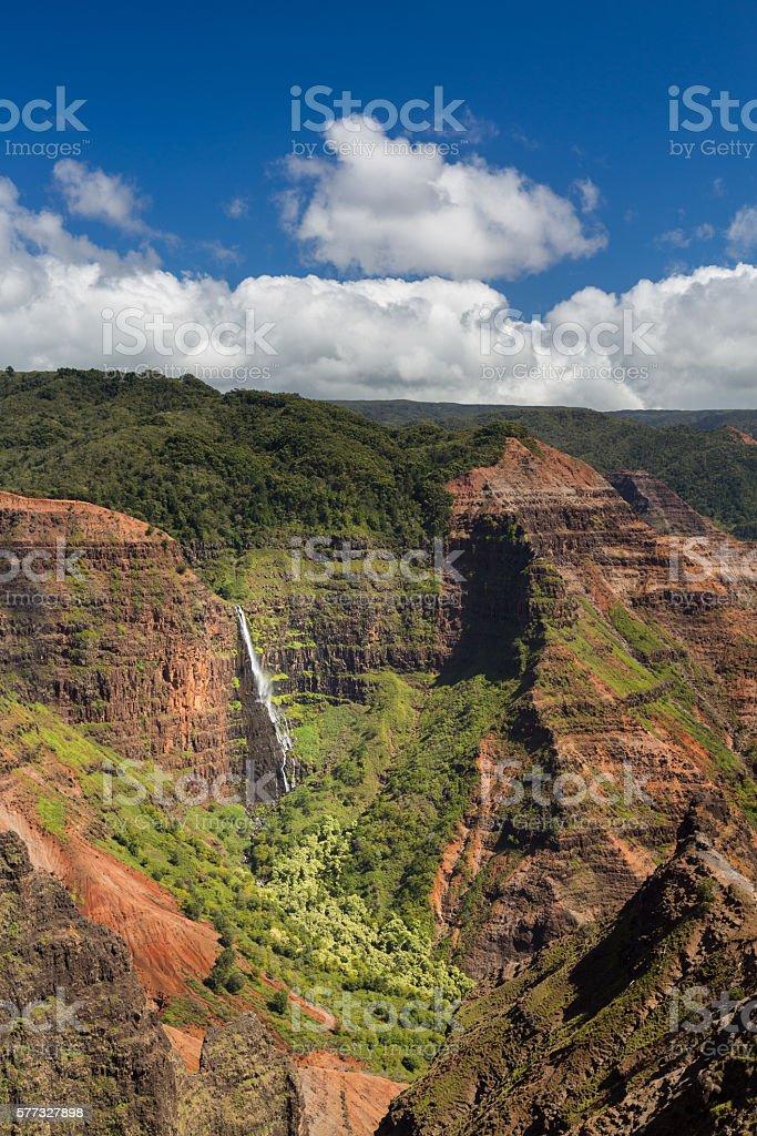 Waimea Canyon Kauai island Hawaii stock photo
