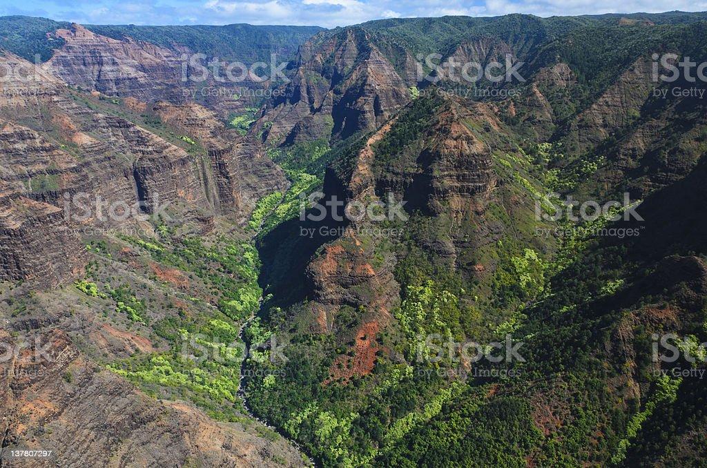 Waimea Canyon, Kauai royalty-free stock photo