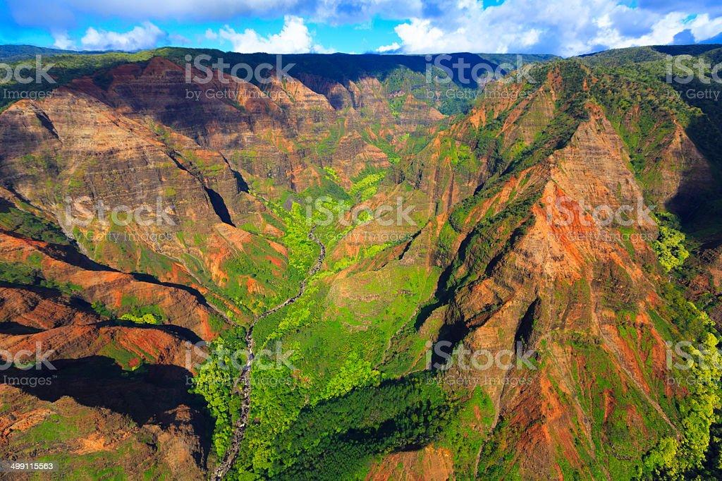 Waimea Canyon, Kauai stock photo