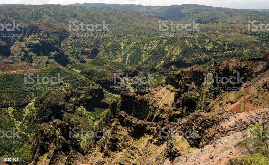 Waimea Canyon on Kauai stock photo