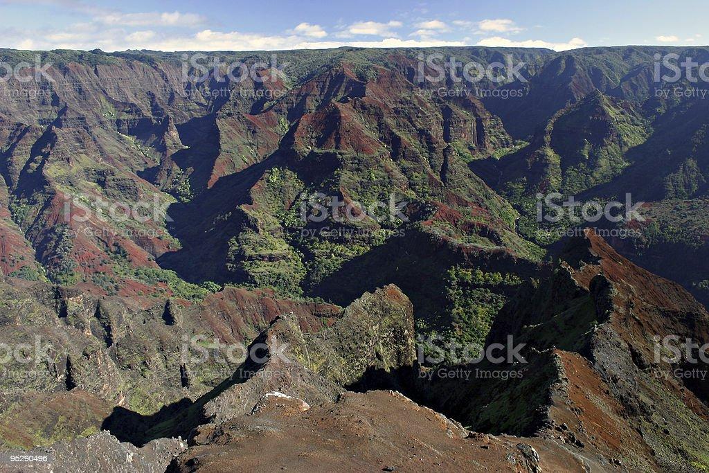 Waimea Canyon Panoramic Vista - Kauai, Hawaii stock photo
