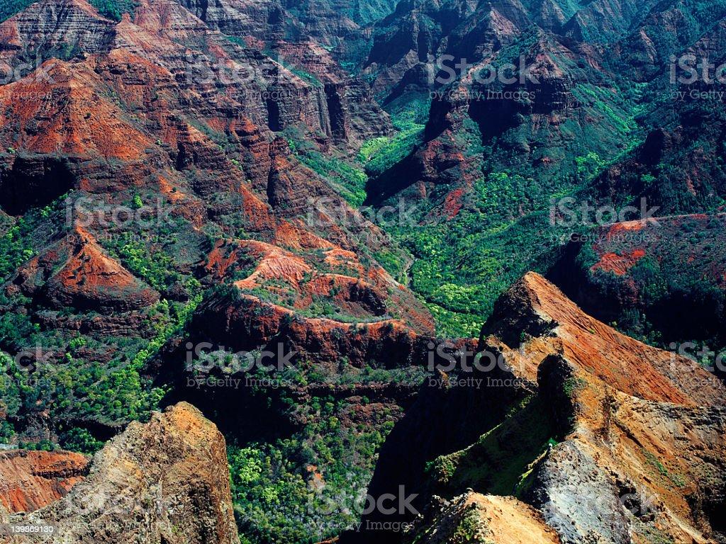 Waimea Canyon stock photo