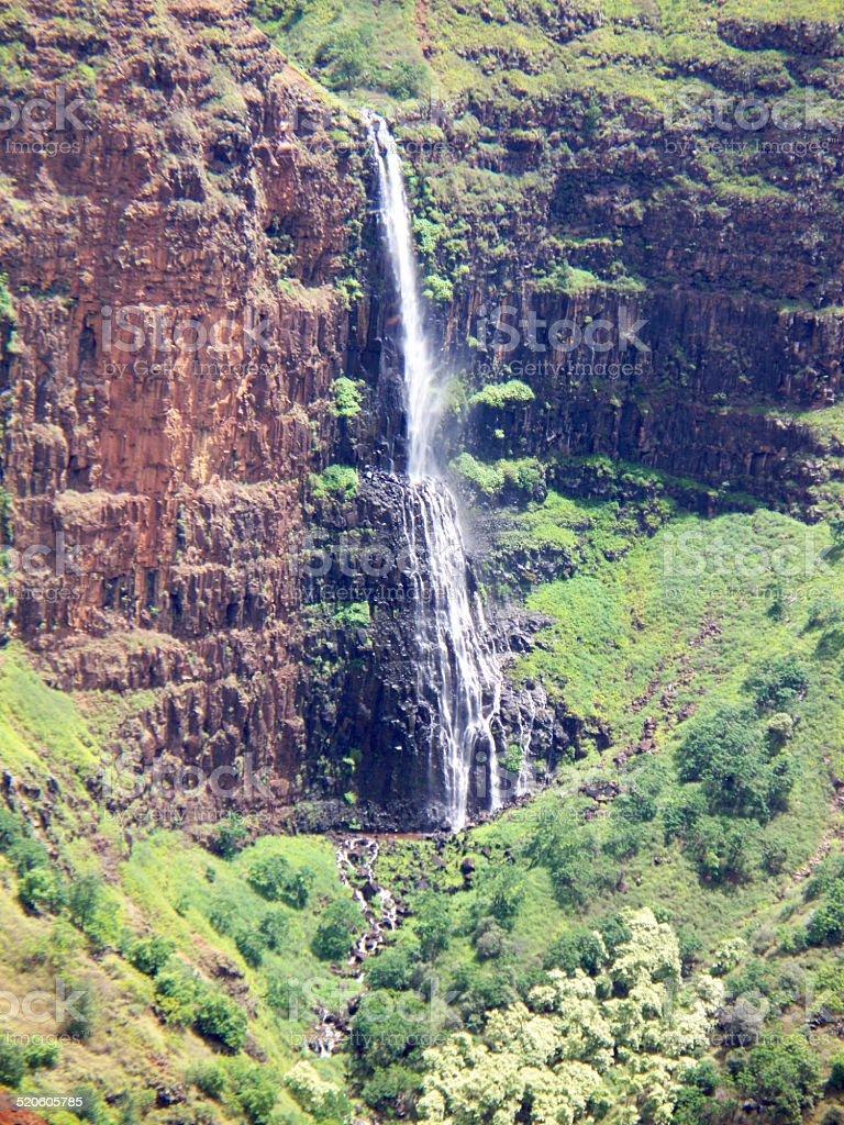 Waimea Canyon Waterfall stock photo
