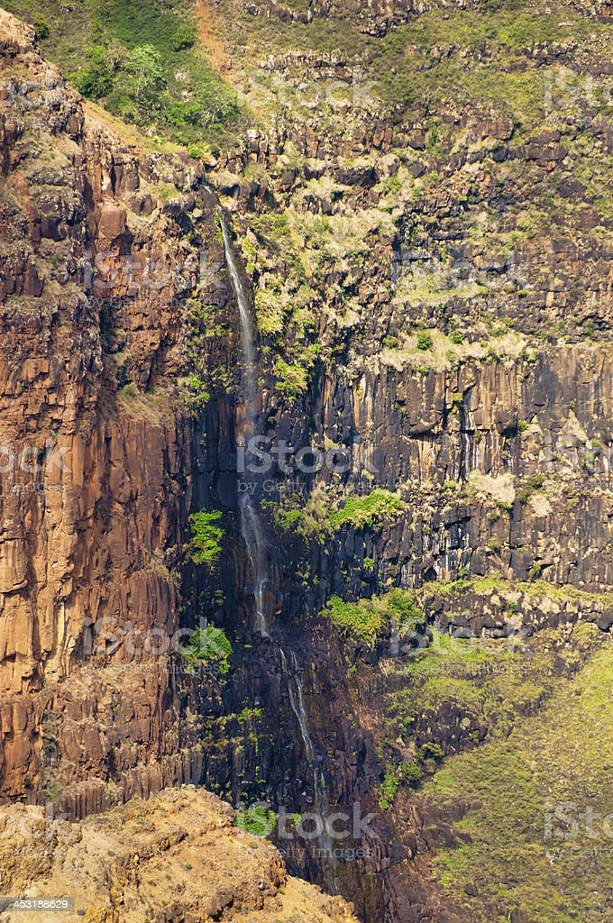 Waimea Falls Kauai, Hawaii stock photo