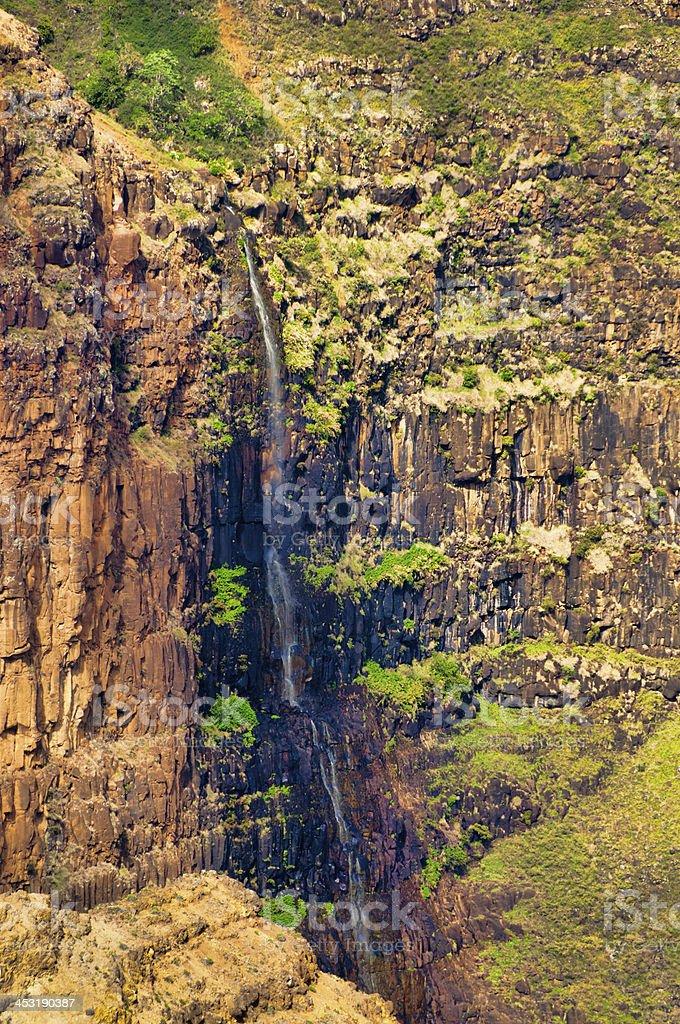 Waimea Falls Kauai, Hawaii royalty-free stock photo