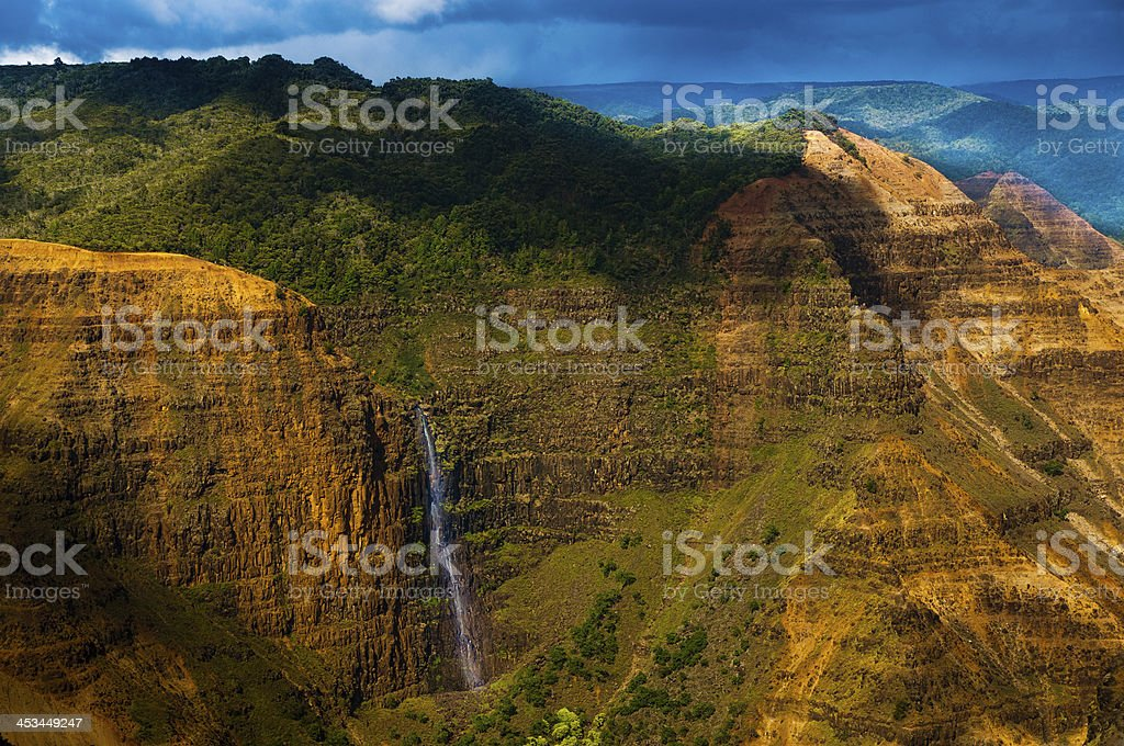 Waimea Falls Kauai, Hawaii royalty-free stock photo